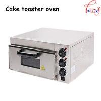 Forno de pizza elétrica casa/termômetro comercial único forno de pizza/mini forno de cozimento/pão/bolo torradeira forno 1 pc