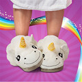 Winter Home Warm Unicorn Kids Slippers Cute Cartoon For Boys Girls Adolescents Adult Plush family mother daughter Slippers