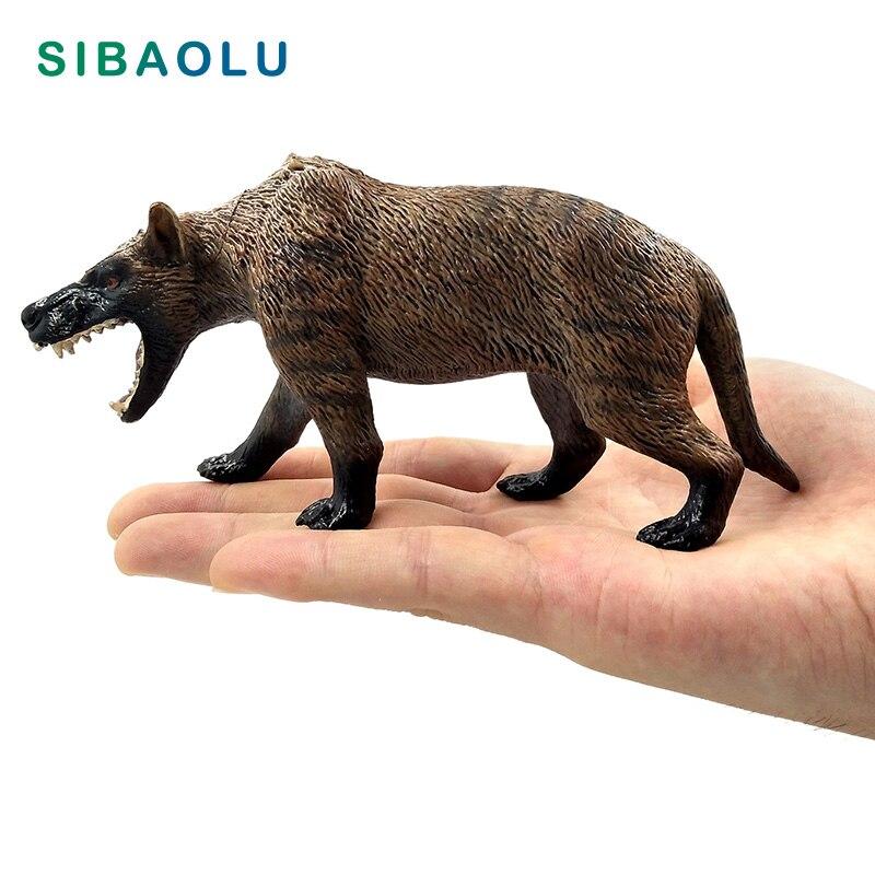 Simulation dire wolf Animal Model Figurine Canis dirus figure home decor miniature Ornament fairy garden decoration accessories figurine