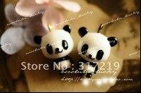 Free Shipping~!! 23mm resin panda.resin craft resin pendants,100pcs