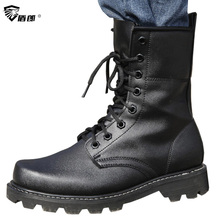 Men Military Tactical Boots Autumn Leather Black Special Force Botas Ankle Combat Safety Work Shoes Army Motorcyble