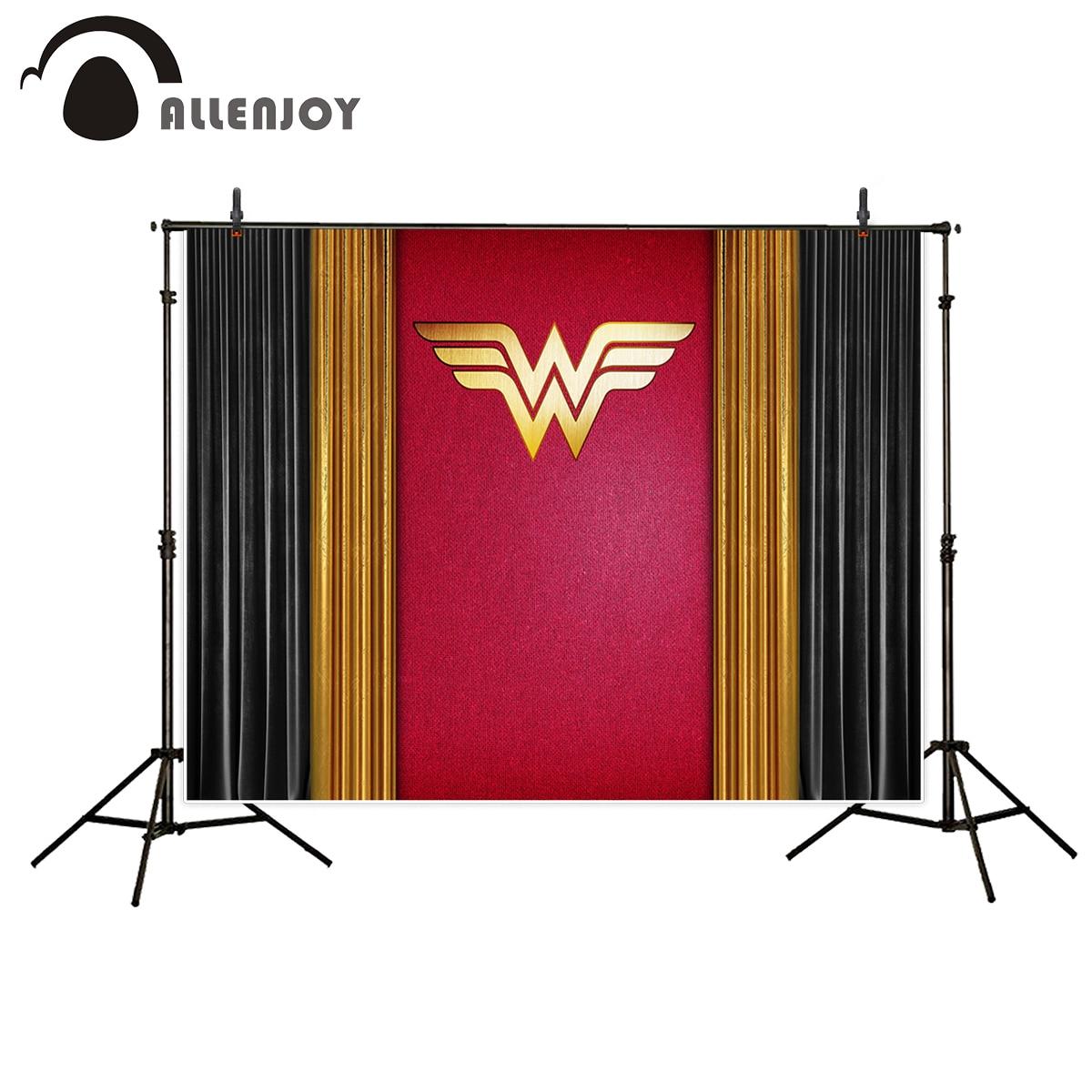 Allenjoy Vinyl photography Black Gold Red LOGO Customized file vinyl photography backdrop customize personal backdrop for studio vinyl wonderland photography backdrop