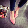Candy Color Women Shoes Flats In Autumn Patent Leather Shallow Mouth Single Shoes Ladies Comfortable Walking Shoes Hot Sale
