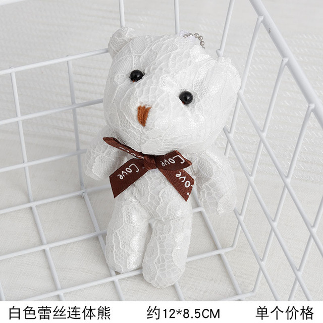 Full 3Colors - HOT Wedding Love Bowknot Bear Stuffed Animal Plush Toy Doll , Gift Key chain bear baby toys