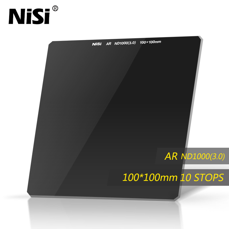 Nisi 100*100mm ND1000 Square ND Filter Optical Glass Nano IR ND8 Neutral Density Filter nisi nd1000 obscuration mirror ultra thin 72mm neutral density mirror nd lens nd 1000