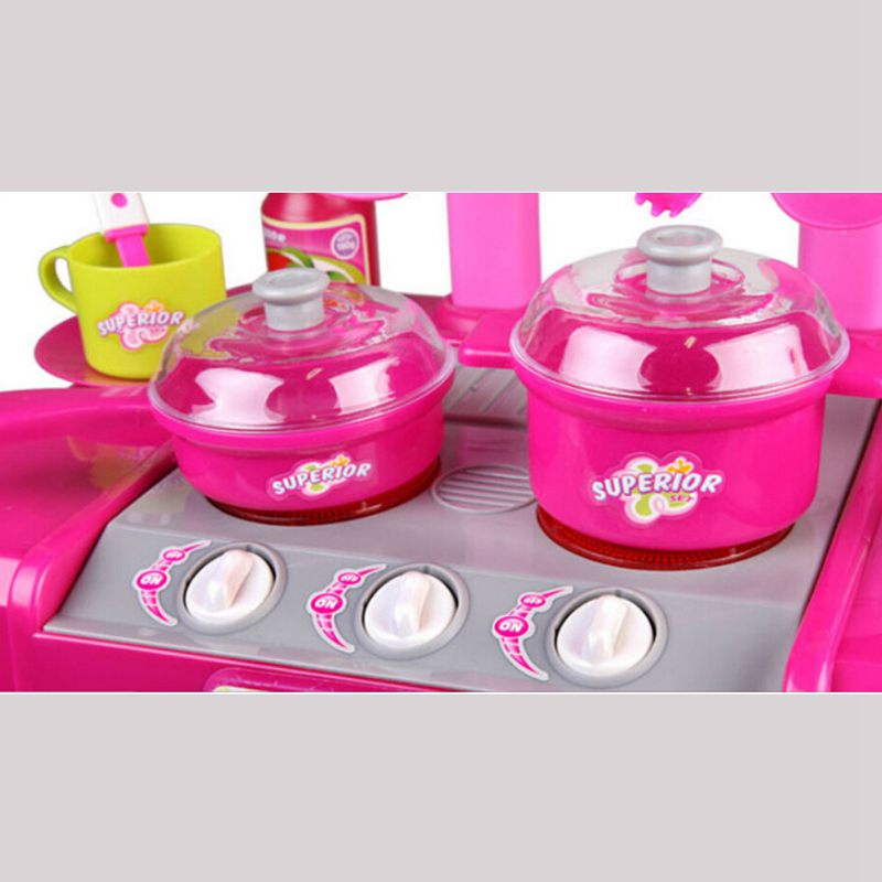 1set Portable Electronic Children Kids Kitchen Cooking Girl Toy Cooker Play Set in Kitchen Toys from Toys Hobbies
