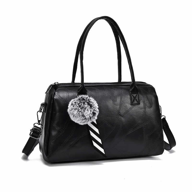 Роскошные сумки для женщин, черные Лоскутные портативные сумки, дизайнерские женские сумки-мессенджеры из искусственной кожи, Большая вместительная сумка