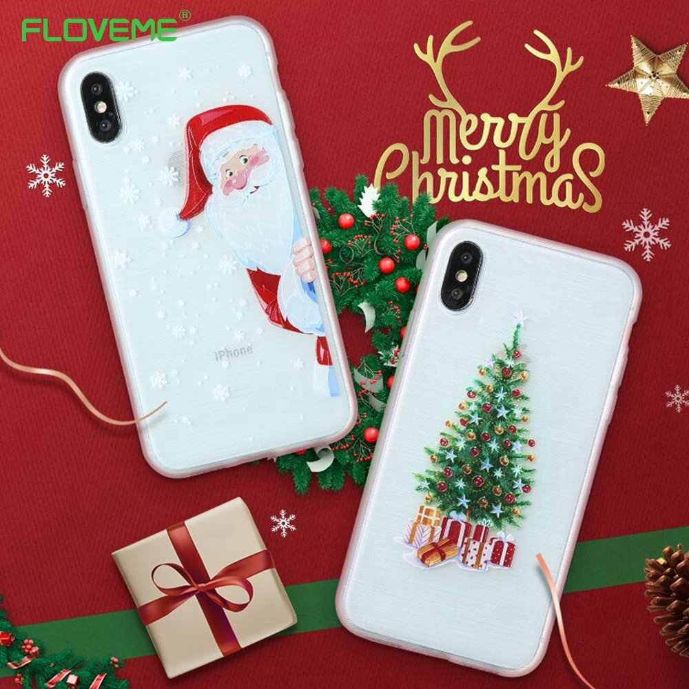 Iphone 6 Plus Christmas Case.Floveme Christmas Cases For Iphone Xs Max Xr X 8 7 6s 6 Plus 2019 New Year Phone Case For Iphone 7 8 6s 6 Plus 10 Silicon Cover
