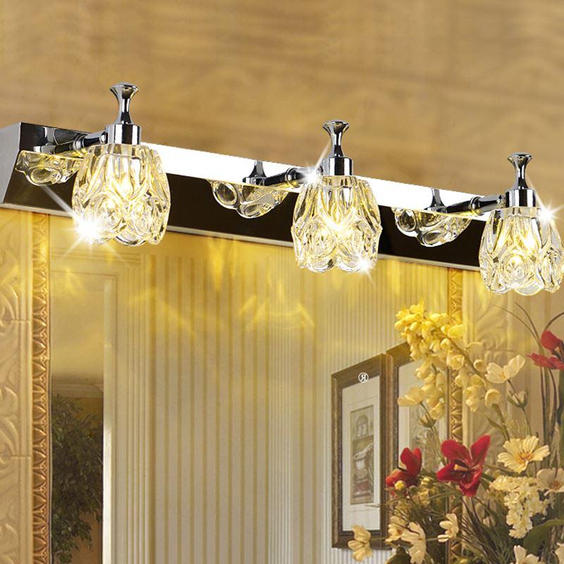 modern minimalist LED 1/2/3 heads wall lamps Bathroom mirror bathroom make up room stainless steel led mirror light Z12410