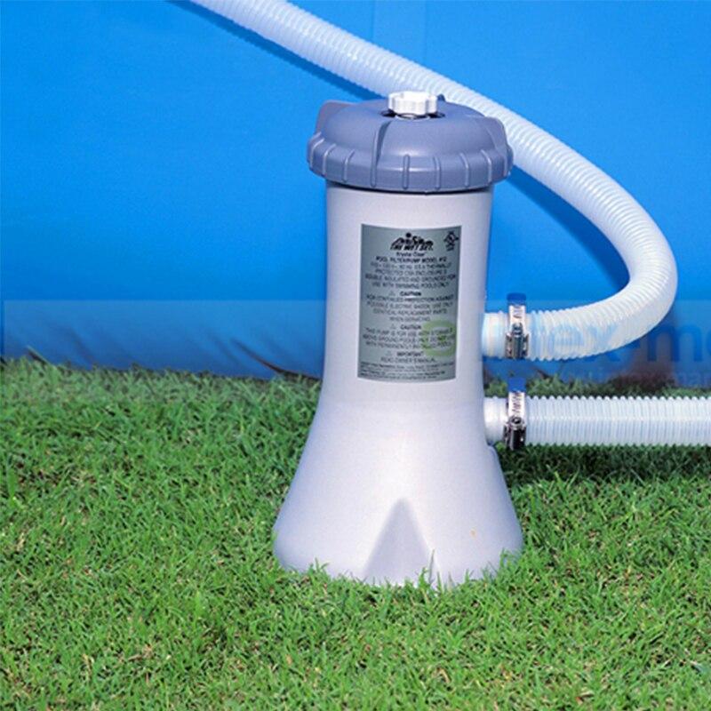 INTEX Piscina di Acqua di Circolazione Portata del Filtro Filtro trasparente Acqua Pompa Pulitore Gonfiabile Piscina Accessorio C74001