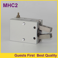 MHC2 10D MHC2 16D MHC2 20D MHC2 25D Angular type double action Air Gripper Aluminum Clamps Pneumatic Air Cylinder