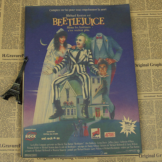 Tim Burton movie posters Vintage Retro Matte Kraft Paper Antique Poster Wall Sticker Home Decoration