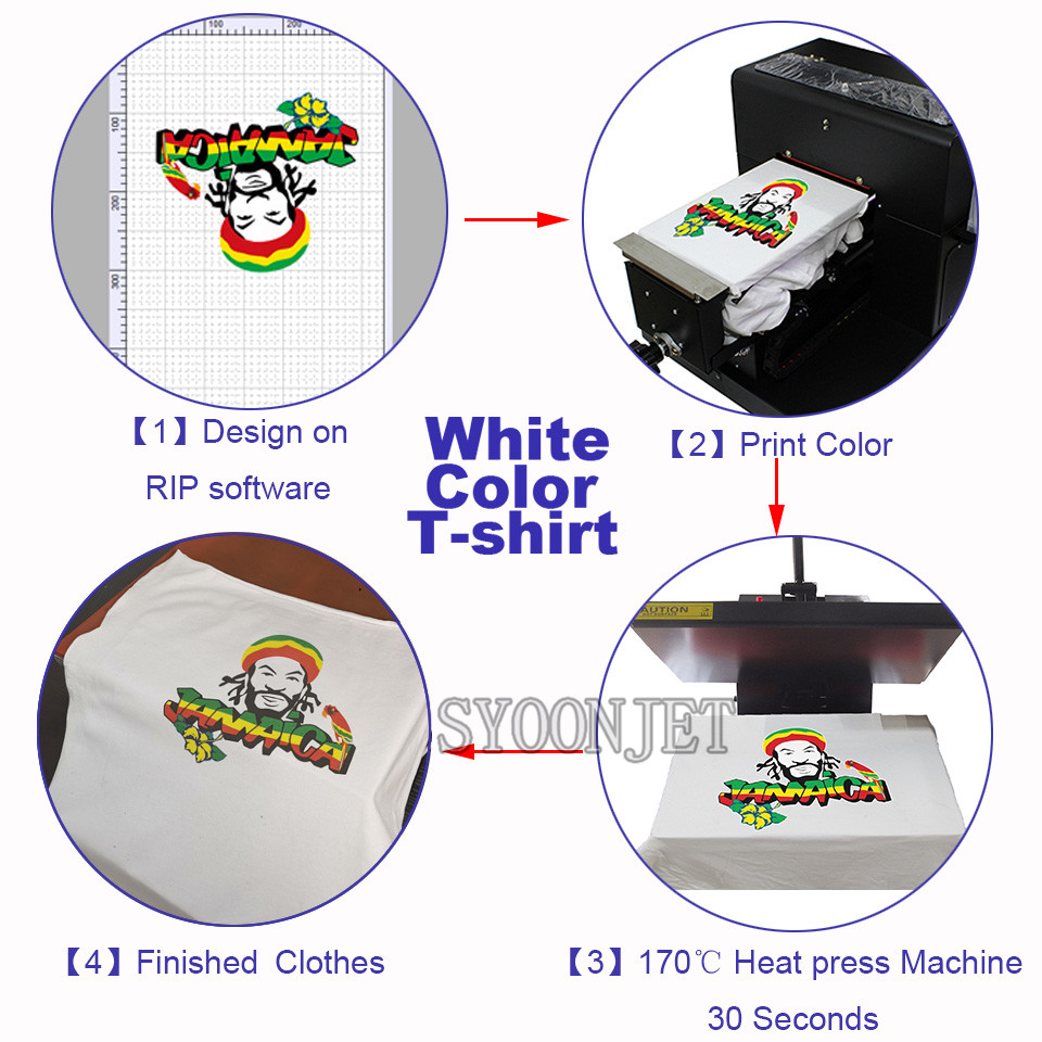 Multi function a4 DTG flatbed Printer Direct to garment T