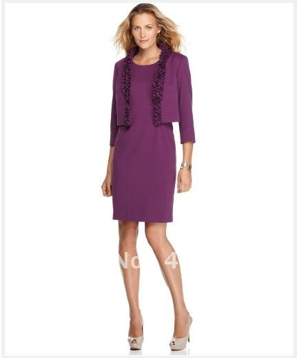 Novelty Purple Slim Fashion Professional Blazers Suits With Jackets