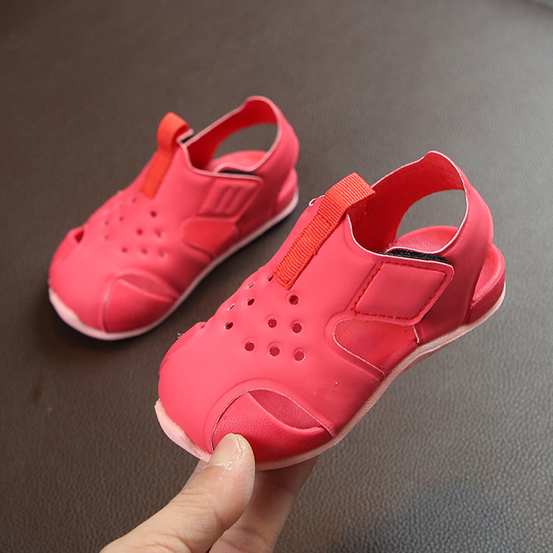 Girls Summer Shoes Kids Sandals PU Leather Toddler Boy Sandals Hollow Out Kids Beach Shoes Casual Unisex Sandal For Children