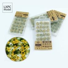Модель сценария трансформации цветок кластер растительность зеленый лист песок стол DIY материал