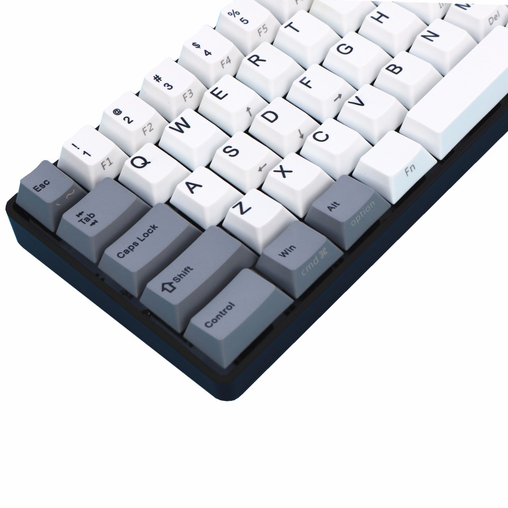 Gray/white PBT Filco Minila Air PBT 67 Keys Dye sublimated print 3u sapcebar cherry profile Only sell keycaps