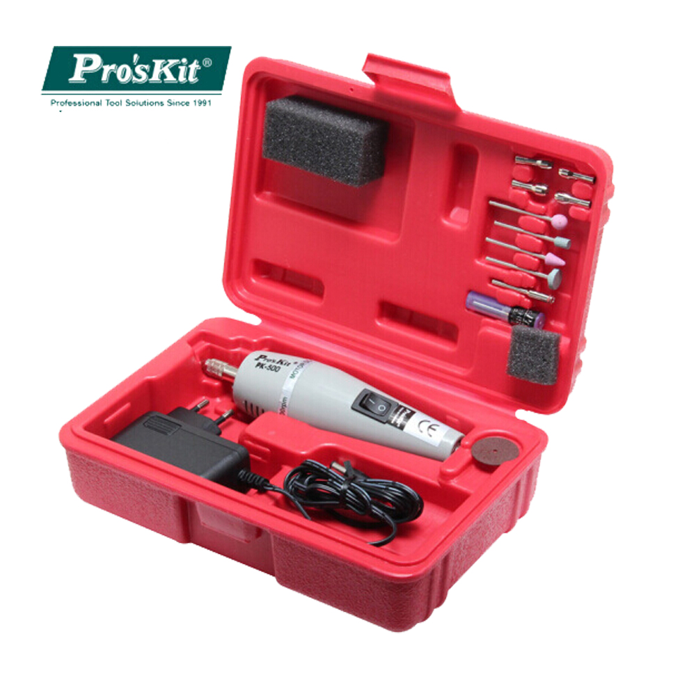Free Shipping ProsKit 1PK-500B-2 Mini Electric Drill Set Machine Grinder Adaptor Electrician Toolkit Power Tool Multifunctional free shipping brand proskit 1pk 301 10pcs electornic hand tool set toolkit pliers knife screwdriver set diy repair tools