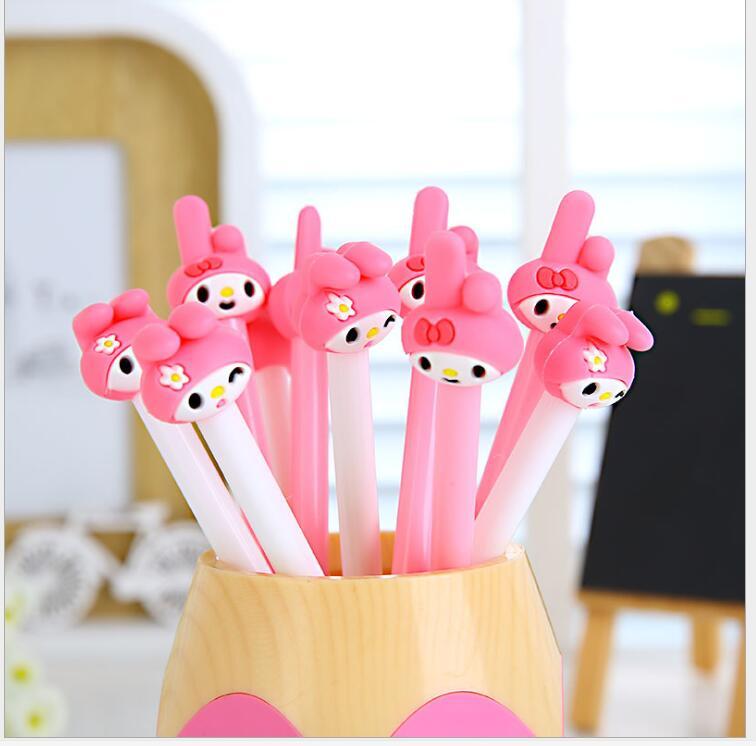 2pcs/ lot Korea Creative cute Cartoon small rabbit gel pen/Good quality/School supplies/ stationery/papelaria WJ0610