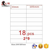 A4 Self Adhesive Label 18 Up Labels 50sheets Amazon FBA 105 X33mm Address Printing Labels For