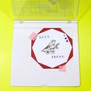 """Image 3 - Überraschung Creation Große größe Stanzen Werkzeug 20,3x20,3 cm (8x8 """")  perfekte Positionierung & Stanzen für Klar Briefmarken"""