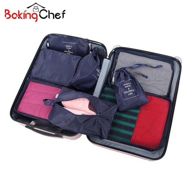 8 Pcs Set Travel Storage Bags Waterproof Ng Cube Portable Clothing Sorting Organizer Luggage Accessories