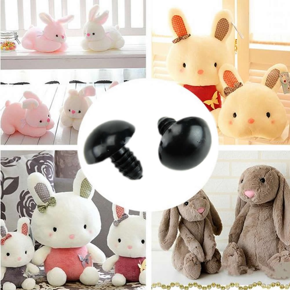 New-100pcs-6-12mm-Black-Plastic-Safety-Eyes-For-Teddy-Bear-Doll-Animal-Puppet-Crafts-1