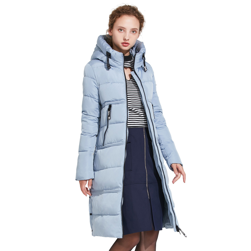 ICEbear 2018 New Winter Coat Women High Quality Parka Women's Fashion Jacket Bilateral Pocket Thick Hooded Windproof 17G666D new winter jacket women fashion down wadded coat female houndstooth fur collar cotton coat hooded parka casual jackets c1182