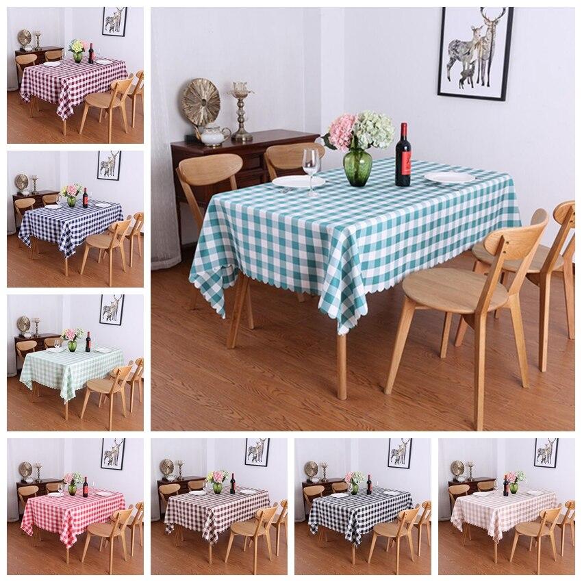 11 cores xadrez xadrez teste padrão toalha de mesa quadrado capa de mesa poliéster linho de mesa para o jantar decoração festa hotel mostrar