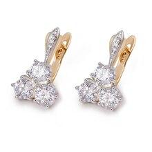 MxGxFam AAA+ серьги-кольца с цирконом для элегантных женщин девушек 18 К смешанный золотой цвет модные ювелирные изделия Высокое качество