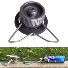 Portable Outdoor Camping Hiking Stove Adapter Gas Tank Converter Connector Light weight Cartridge Cylinder