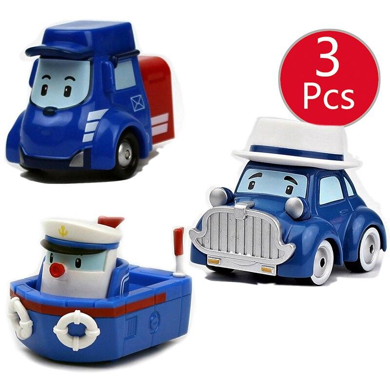 Robocar Poli 3Pcs 12 Style Kids Toy Anime Action Figures Anba Car Metal Model Car Roy Fire Truck Toys For Children Christmas