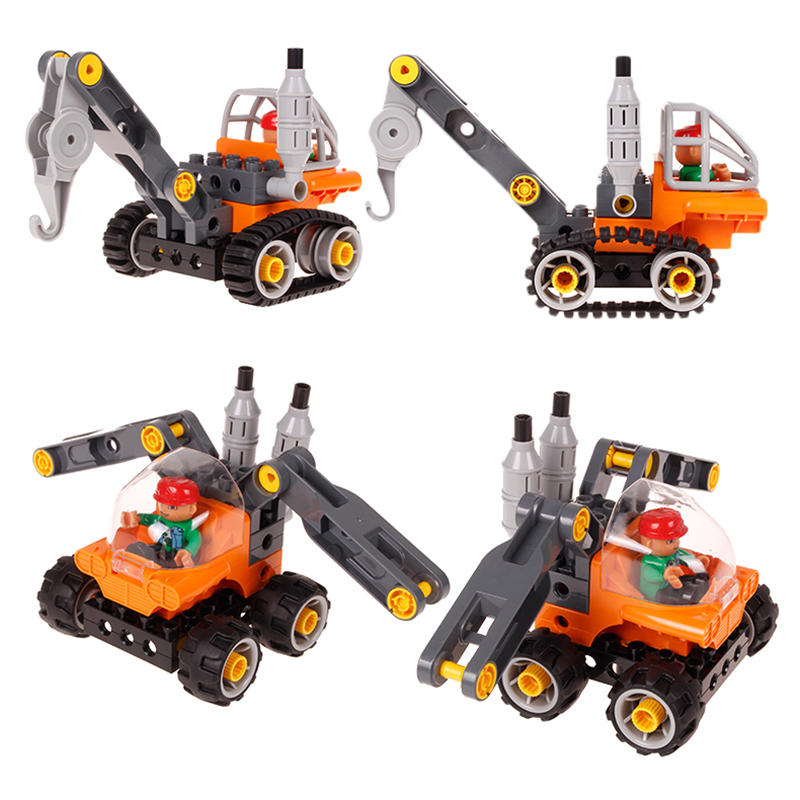 Children toys for Model Building Kits Blocks Learning Education Machines Loader Car Toy Blocks Compatible With Legoe Duplo 1 wange mechanical application of the crown gear model building blocks for children the pulley scientific learning education toys