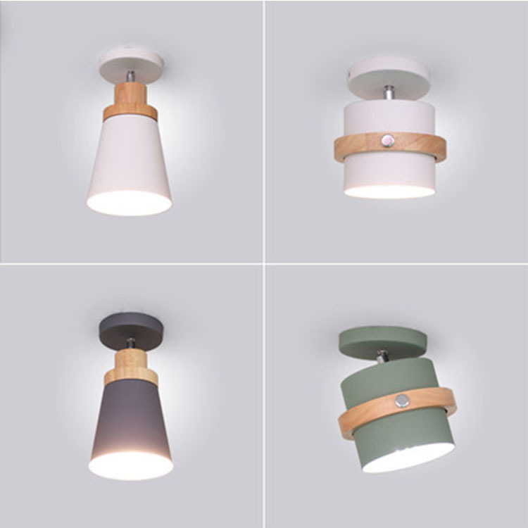 Modern Led Ceiling Light Nordic Wooden Wrought Iron Metal Lamps For Aisle Corridor Hallway Gray Green White Lighting Fixture BarModern Led Ceiling Light Nordic Wooden Wrought Iron Metal Lamps For Aisle Corridor Hallway Gray Green White Lighting Fixture Bar