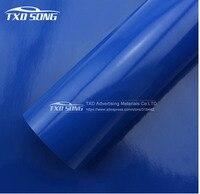 Темно синий глянцевая виниловая пленка для автомобиля пленка, Глянцевая наклейка для автомобиля с бесплатным пузырьков воздуха 1,52*30 м в рул