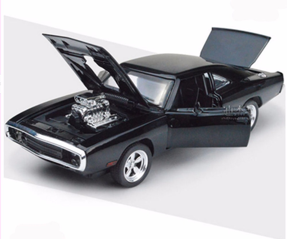 Dodge challenger 1 32 scale alloy diecast car model toys fast furious 7 black