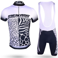 Original Meikroo Animal Skins Print Bib Short Sleeve Cycling Jersey Sets Ropha Ciclismo Cycling Maillot