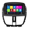 Dashboard Placement Para Peugeot 207 de Navegação GPS Do Carro mapa Livre Carro DVD Player Com Tela Sensível Ao Toque Invertendo Câmera Traseira Da Lista Telefônica