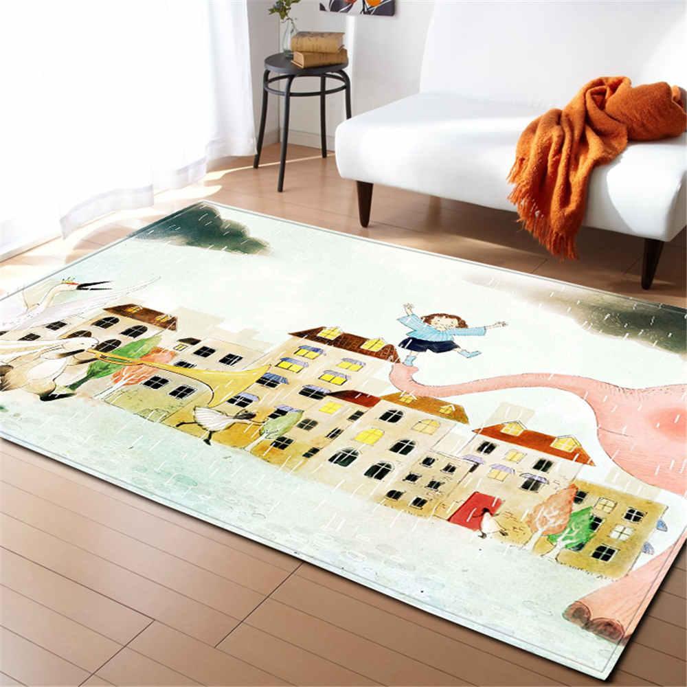 Us 28 16 32 Off Modern Children Room Carpets S Bed Decoration Area Rug Bedside Soft Flannel Mat Home Textile Living Carpet In
