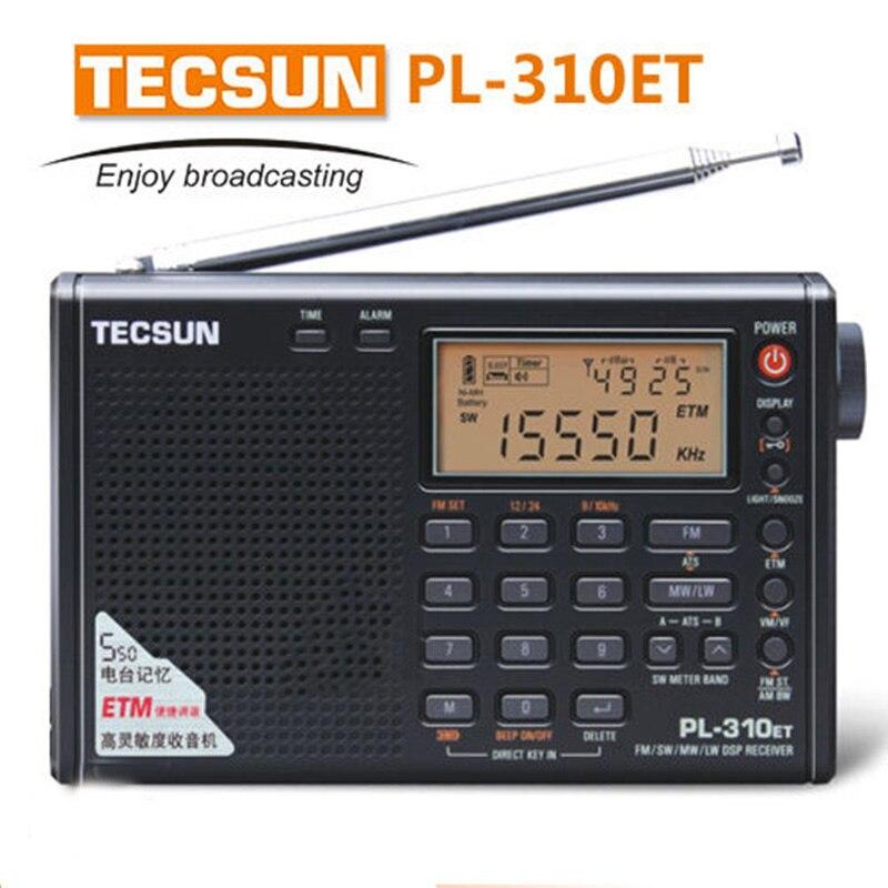 100% Marca Tecsun PL-310ET PL310ET Banda Completa Rádio Demodulador Digital AM/FM/SW/MW/LW Mundo banda Receptor de Rádio Estéreo Digital