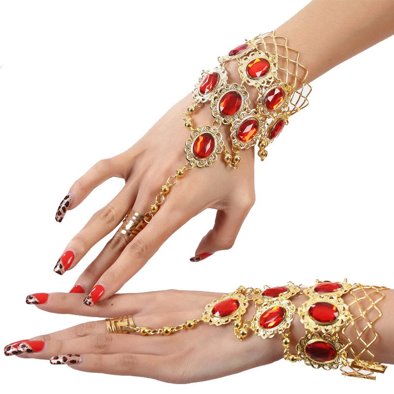 Belly Dance Bracelet Accessories Jewelry Ring Indian Dance Bracelet Hand Ring Bellydance Accessories