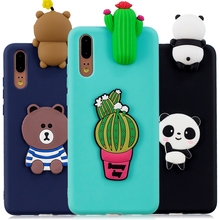P20 Lite Telefon Kılıfları sFor Coque Huawei P20 Lite P20 Pro Vaka Yumuşak 3D DIY Panda Bear Doll Oyuncaklar için Huawei P10 P8 ...