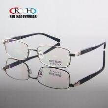 3cdd55f2c611f Óculos Full Frame Homens Mulheres Óculos de Marca Homens Vidros Ópticos  Quadro Prescrição Óculos de design Retangular