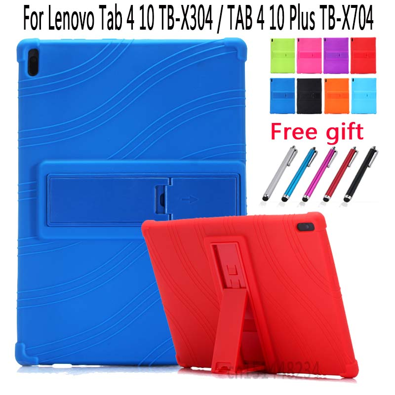 For Lenovo TAB4 Tab 4 10 TB-X304L/F/N case, Thickening child Shockproof Silicone Stand Cover For Lenovo TAB 4 10 Plus TB-X704/FFor Lenovo TAB4 Tab 4 10 TB-X304L/F/N case, Thickening child Shockproof Silicone Stand Cover For Lenovo TAB 4 10 Plus TB-X704/F