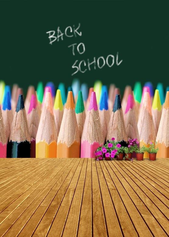 Blackboard with crayon photography backdrops vinyl digital cloth for photo studio background S-926 crayon