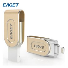 EAGET 2 In 1 Mini 16G 32G 64G USB Flash Drive USB 3.0 OTG PC Flash USB Pen Drive For iPhone / Android Smart Phones Tablets