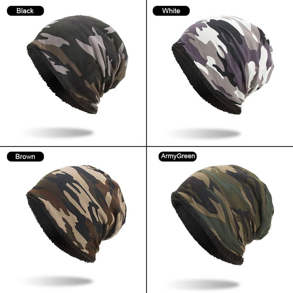 The Latest Camouflage Caps Unisex Warm Winter Wool Ski Caps Beanie Hats For Men And Women Camo Winter Hat Camo Beanie Hat