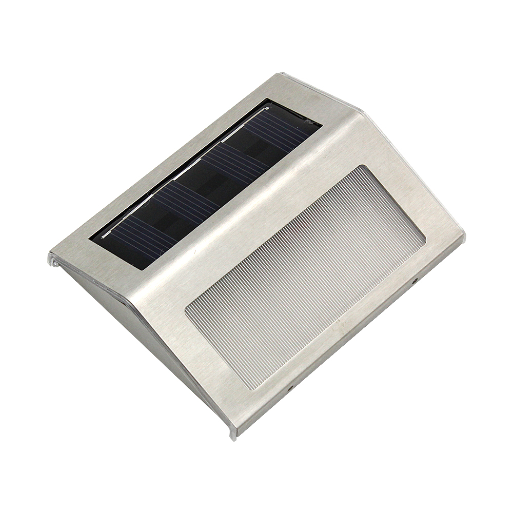 New Outdoor Solar Powered LED Wall Light Sensor IP65 Waterproof White Lamp For Home Garden Street Patio Pathway Stairs Corridor