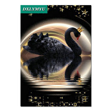 New 5d diamond embroidery kits cross-stitch home decor diamond painting mosaic diy needlework Black Swan King home wall decor(China)