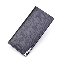 Mens wallet long section three fold vertical open 2019 new soft multi-card large capacity